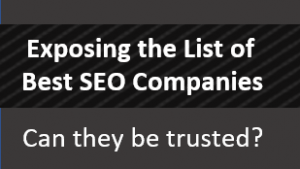 Exposing List of Best SEO Companies